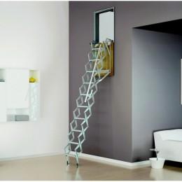 Scala retrattile parete verticale zincata